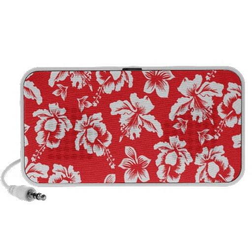 Flores rojas hawaianas iPhone altavoz