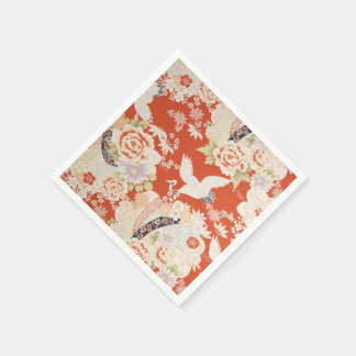 Flores rojas japonesas de Sakura del modelo de la Servilleta De Papel