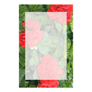 flores rojas personalized stationery