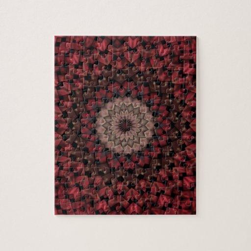 Flores rojas puzzle con fotos