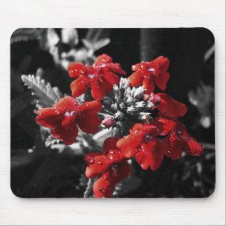 Flores rojas tapetes de ratones
