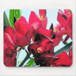 Flores rojas tapetes de raton