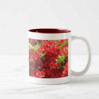 Flores rojas taza