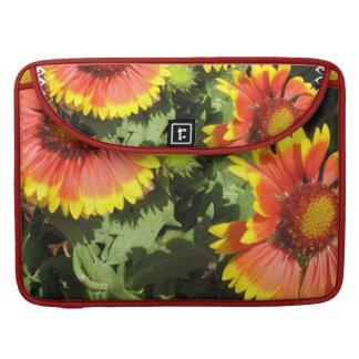 """Flores rojas y amarillas 15"""" manga de MacBook Fundas Macbook Pro"""