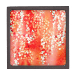 Flores rojas y blancas del extracto - cajas de joyas de calidad