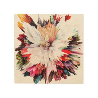 flores, rojo, naranja, rosa, peony, peonies, impresión en madera