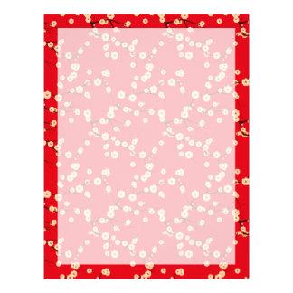Flores rojos membretes personalizados