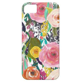 Flores románticas de la acuarela del jardín funda para iPhone SE/5/5s