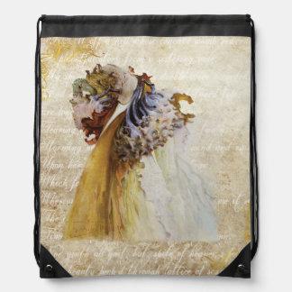 Flores románticas de la belleza del Victorian en Mochilas