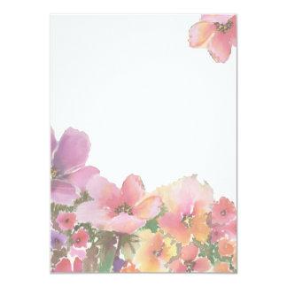 """Flores románticas del boda de la acuarela invitación 4.5"""" x 6.25"""""""