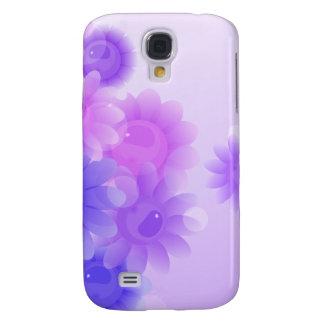 Flores románticas púrpuras del vintage funda para galaxy s4