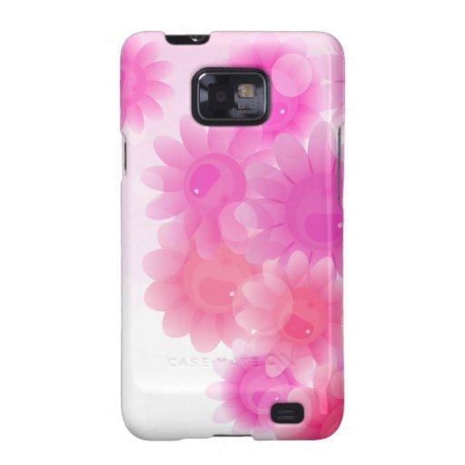 Flores románticas rosadas del vintage samsung galaxy SII carcasa