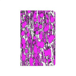 Flores rosadas abstractas cuaderno