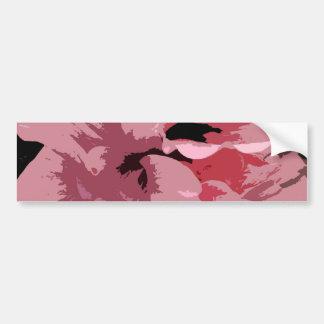 Flores rosadas abstractas del hibisco pegatina para auto