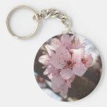 Flores rosadas - árbol de ciruelo llaveros personalizados