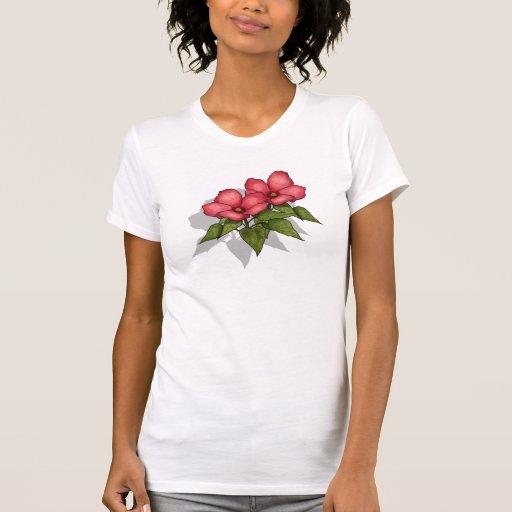 Flores rosadas: Arte original del lápiz del color Camisetas