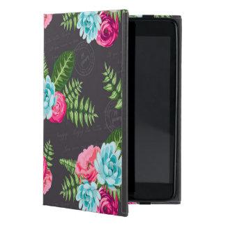 Flores rosadas azules de X iPad Mini Funda