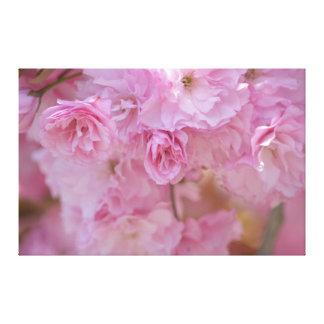 Flores rosadas bonitas impresion de lienzo
