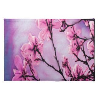 Flores rosadas bonitas mantel