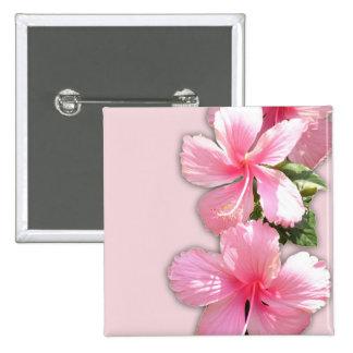 Flores rosadas brillantes del hibisco pin
