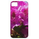 Flores rosadas brillantes iPhone 5 protectores