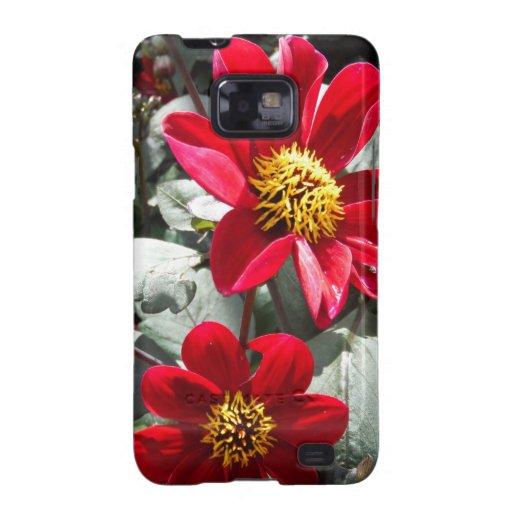 flores rosadas candentes de la margarita/de las ma samsung galaxy s2 carcasas