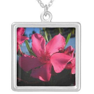 Flores rosadas colgante cuadrado