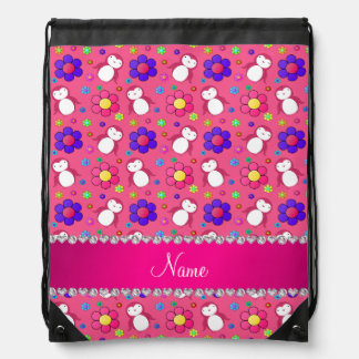 Flores rosadas conocidas personalizadas de los mochilas
