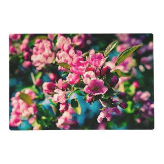 Flores rosadas de Apple de cangrejo Tapete Individual