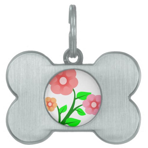 Flores rosadas de Clipart Placas Mascota