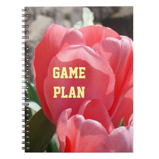 Flores rosadas de encargo del tulipán de los cuade cuaderno