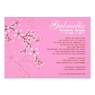 Flores rosadas de Gabriela de la invitación de Mit