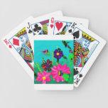 Flores rosadas de la diversión cartas de juego