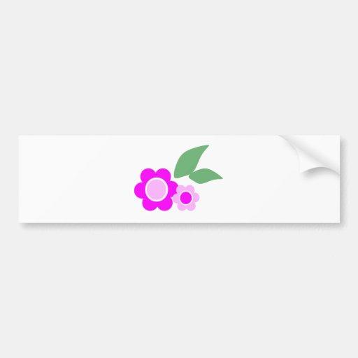 Flores rosadas de la margarita pegatina para auto