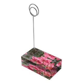 Flores rosadas de la orquídea soporte de tarjeta de mesa