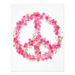 Flores rosadas de la paz invitaciones personales