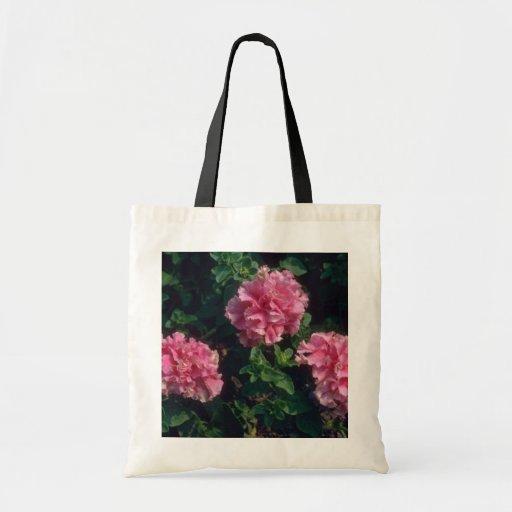 Flores rosadas de la petunia del jardín (petunia H Bolsas De Mano