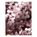 flores rosadas de la primavera membretes personalizados