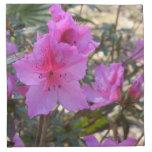 Flores rosadas de las azaleas servilletas imprimidas