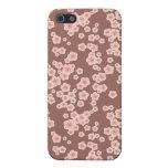 flores rosadas de las flores de cerezo florales iPhone 5 cobertura