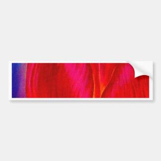 Flores rosadas de los tulipanes que pintan arte -  etiqueta de parachoque