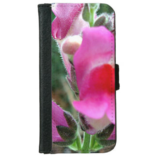 Flores rosadas de Snapdragon Funda Cartera Para iPhone 6