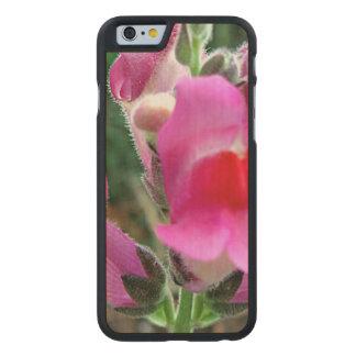 Flores rosadas de Snapdragon Funda De iPhone 6 Carved® Slim De Arce