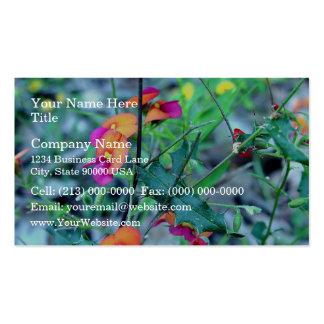 Flores rosadas de tocino y del huevo plantillas de tarjetas de visita