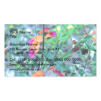 Flores rosadas de tocino y del huevo plantillas de tarjeta de negocio