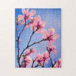 Flores rosadas del árbol de la primavera puzzles
