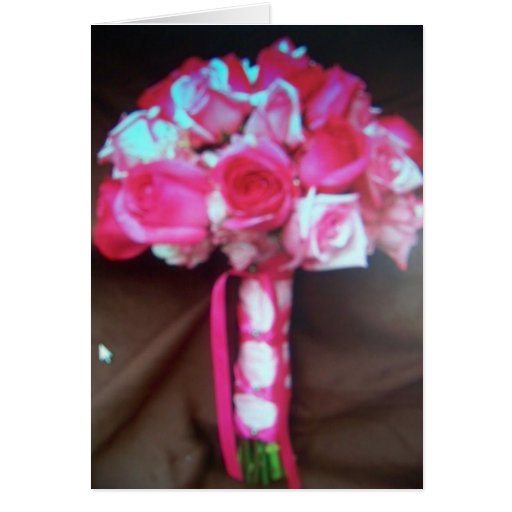 flores rosadas del boda tarjeta de felicitación