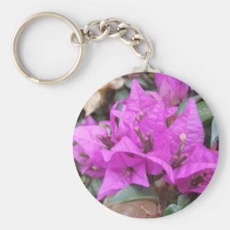 Flores rosadas del Bougainvillea Llavero Redondo Tipo Pin
