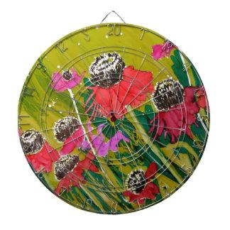 Flores rosadas del cono que se sacuden en la brisa tablero dardos