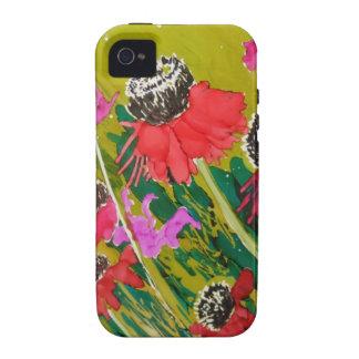 Flores rosadas del cono que se sacuden en la brisa Case-Mate iPhone 4 funda